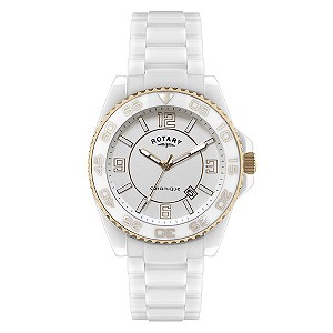 Rotary Ceramique White Bracelet Watch
