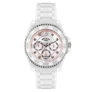 Rotary Ceramique Mother Of Pearl Bracelet Watch