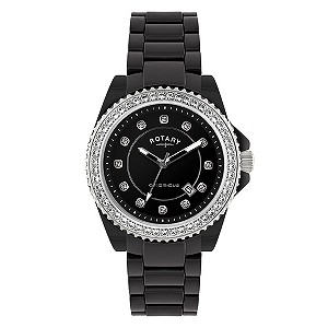 Rotary Ceramique Stone Set Bracelet Watch