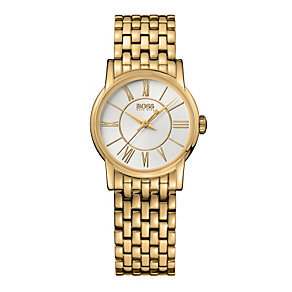 Hugo Boss ladies' gold plated bracelet watch - Product number 8834741
