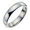 Palladium 950 4mm extra heavy court ring - Product number 8835292