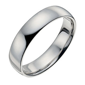 Palladium 950 5mm extra heavy court ring - Product number 8835535