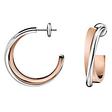 Calvin Klein ladies' rose gold plated coil earrings - Product number 8836515