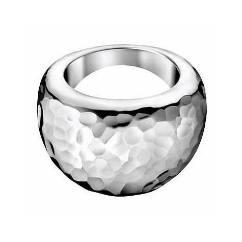 Calvin Klein stainless steel hammered ring