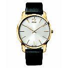 Men's Calvin Klein black leather strap watch - Product number 8836590