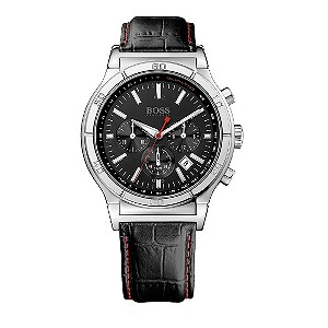 Hugo Boss black leather chronograph watch - Product number 8836698