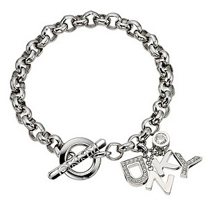 DKNY Crystal And Stainless Steel Logo Bracelet - Product number 8845921