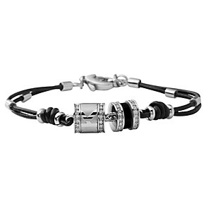 DKNY Black Leather Charm Bracelet - Product number 8846006