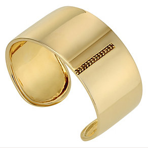 Amanda Wakeley silver & gold plated  brown diamond cuff - Product number 8846561