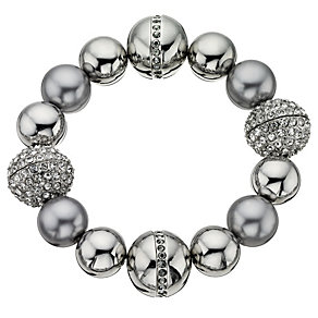 Fiorelli Simulated Pearl & Crystal Bead Bracelet - Product number 8848602