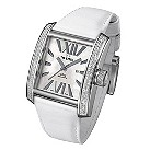 T W Steel ladies' stone set white strap watch - Product number 8848777