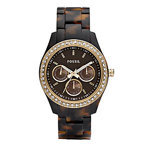 Fossil Stella Ladies' Tortoise Effect Bracelet Watch - Product number 8849692