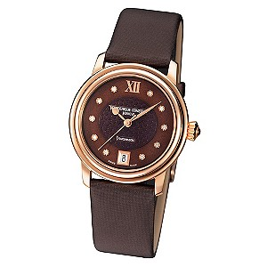 Frederique Constant ladies' brown strap watch - Product number 8852278