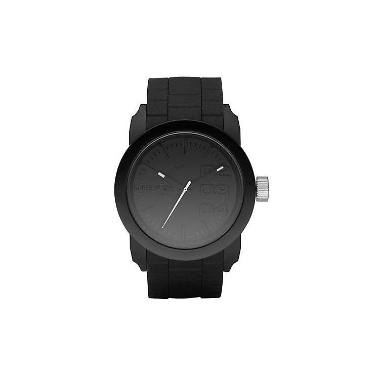 diesel watches h samuel diesel mens double down black dial silicone bracelet watch product number 8852529