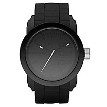 Diesel Mens Double Down Black Dial & Silicone Bracelet Watch - Product number 8852529