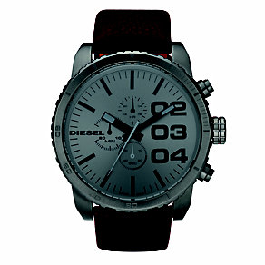 Diesel Men's Double Down 51 Brown Strap Watch - Product number 8852634