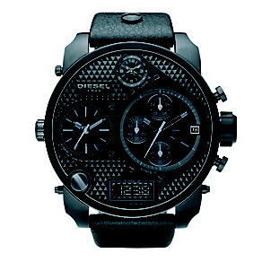 Diesel Men's Mr Daddy Black Strap Watch - Product number 8852642