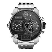 Diesel Mens Mr Daddy Black Dial Black Steel Bracelet Watch - Product number 8852677