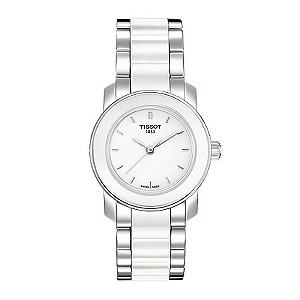 Tissot ladies' white ceramic bracelet watch - Product number 8854866