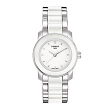 Tissot ladies' white ceramic bracelet watch - Product number 8854866