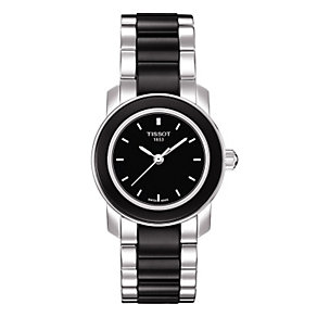 Tissot ladies' stainless steel/ black ceramic bracelet watch - Product number 8855242