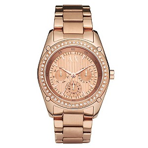 Ladies' Armani Exchange Rose Bracelet Watch - Product number 8863253