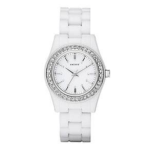 DKNY Ladies' White Bracelet Watch - Product number 8863296