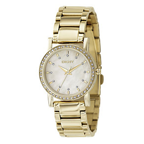 DKNY Ladies' Gold Plated Bracelet Watch - Product number 8863660