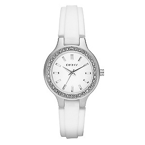 DKNY Ladies' White Strap Watch - Product number 8863709