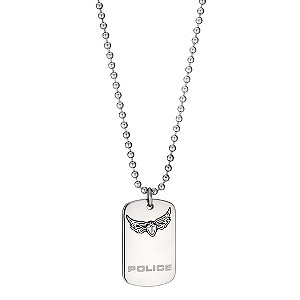 Police Stainless Steel Icarus Pendant Necklace
