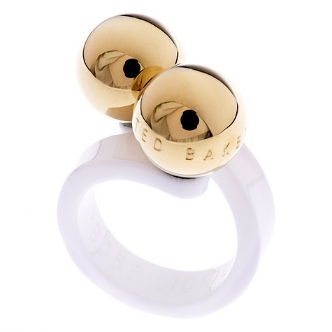 Ted Baker white bobble ring