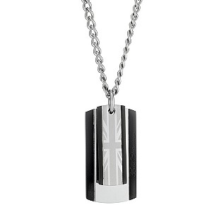 Ben Sherman Stainless Steel Union Jack Dog Tag Necklace