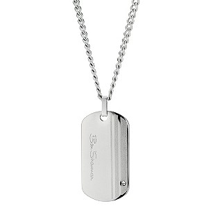 Ben Sherman Stainless Steel Stripe And Crystal Necklace
