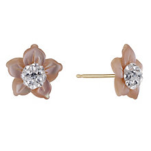 Evoke 9ct Yellow Gold Mother of Pearl Stud Earrings - Product number 8882630
