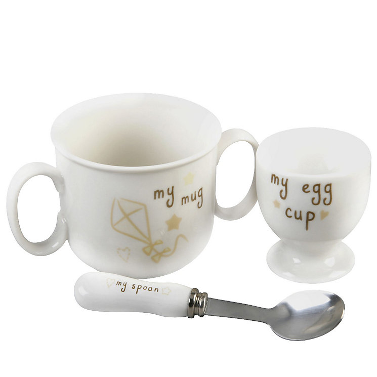 Button Corner Egg Cup Spoon & Mug Set - Product number 8887365