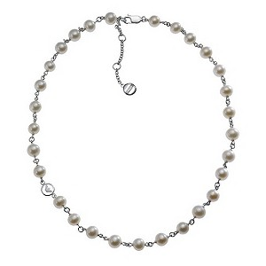 Armani Ladies' Pearl Logo Necklace - Product number 8887934