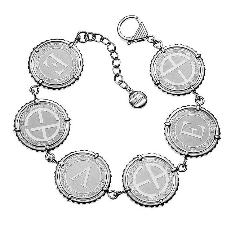 Emporio Armani ladies' logo disc bracelet - Product number 8887977
