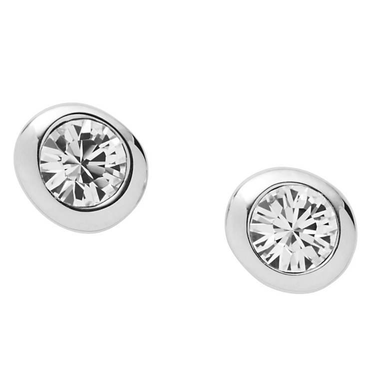 DKNY stone set silver layer stud earrings - Product number 8888876
