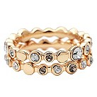 DKNY gold plated stacker ring set - size M1/2 - Product number 8888906