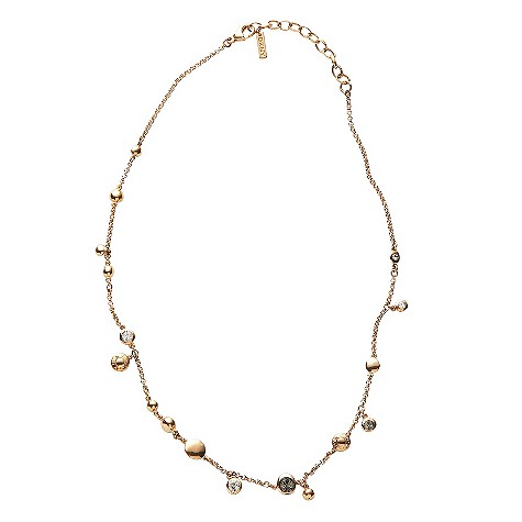 DKNY gold plated stone set layer necklace