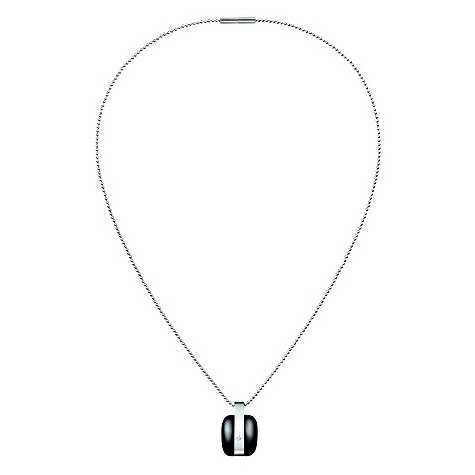 Calvin Klein stainless steel black treasure necklace