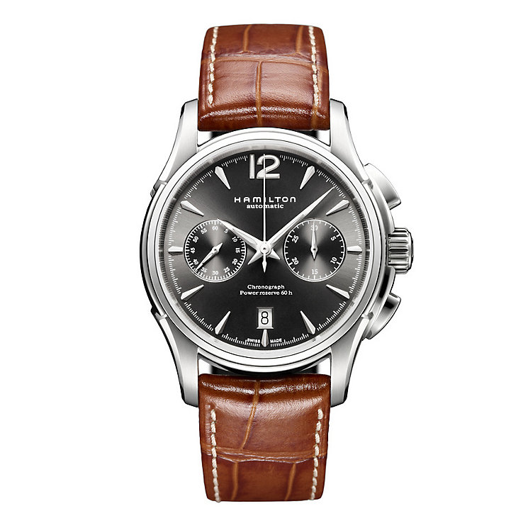Hamilton brown strap chronograph watch - Product number 8890048