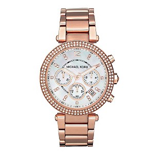 Michael Kors Ladies' Rose Gold Bracelet Watch