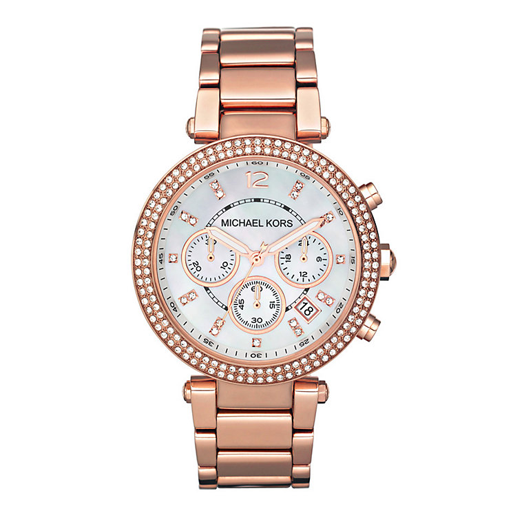 Michael Kors ladies' rose gold bracelet watch - Product number 8891109