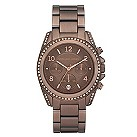 Michael Kors ladies' brown ion plated bracelet watch - Product number 8891125