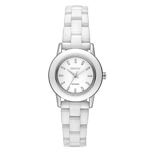 DKNY ladies' white ceramic bracelet watch - Product number 8892164