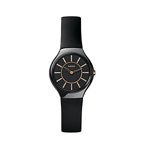 Rado True Thinline ladies' black ceramic jubile watch - S - Product number 8892849
