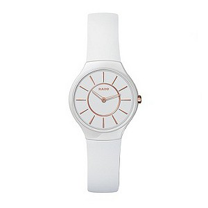 Rado True Thinline ladies' white ceramic bracelet watch - S - Product number 8892857
