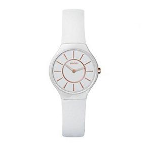 Rado True Thinline ladies' white ceramic bracelet watch - S - Product number 8892857