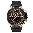 Tissot T-Race men's black stainless steel rubber strap watch - Product number 8893713